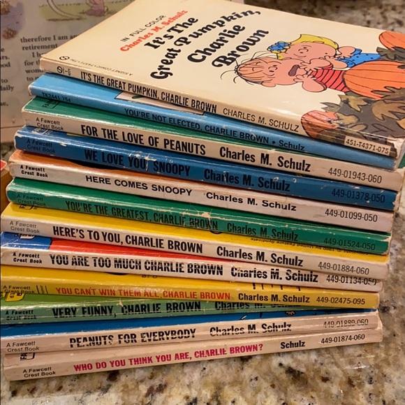 Peanuts! Collection of 17 Original Cartoon Books